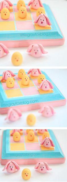 DIY Easter Tic Tac Toe Game