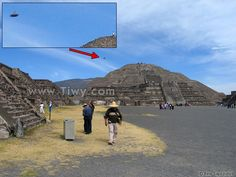 UFO over the The Pyramid of the Moon - Mexico