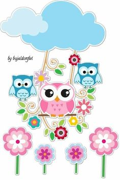 Diy And Crafts, Arts And Crafts, Paper Crafts, Owl Clip Art, Crochet Mask, Baby Owls, Cute Owl, Printable Stickers, Vintage Christmas