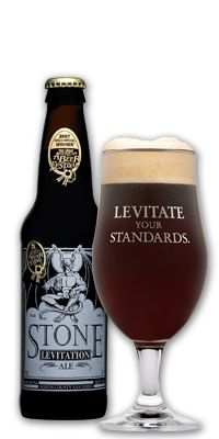Stone Levitation Ale, from my hometown of San Diego. A big-tasting beer with only 4.4% ABV. I could use one right now.