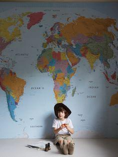 World Map Wall Mural NEW