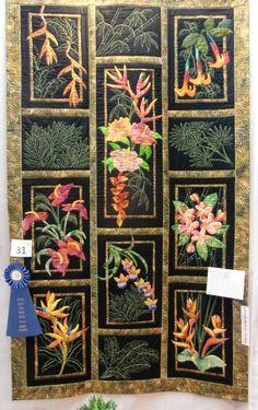 Hawaiian Tropical Flowers by D. McCalla, Winner of Handwork Division
