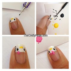 diy hello kitty do all white nails though!