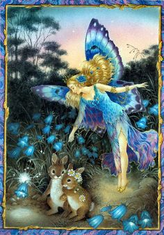 ≍ Nature's Fairy Nymphs ≍ magical elves, sprites, pixies and winged woodland faeries - Shirley Barber, fairies March