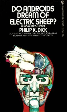 Philip K. Dick, Do Androids Dream of Electric Sheep? (Signet, 1971), with cover art by Bob Pepper.