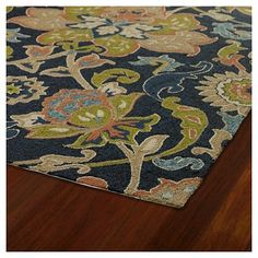 With an elegant damask floral motif, the Kaleen Home & Porch Damask Floral Indoor/Outdoor Rug is handmade from polypropylene and reflects an active lifestyle. Kaleen Rugs, Indoor Flowers, Plants Indoor, Rugs And Mats, Navy Flowers, Home Porch, Navy Rug, Buy Rugs, Hand Tufted Rugs