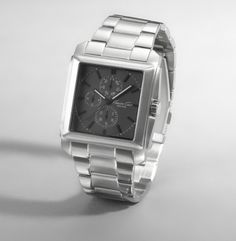 Kenneth Cole Silver Square Face Watch