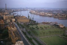 From Gordon Hse Shadwell looking East, 1966 showing The Highway, Free Trade Wharf, King Edward VII Memorial Park. Old London, East London, Tower Hamlets, Irish Catholic, Listed Building, Memorial Park, Paris Skyline, City Photo, Old Things