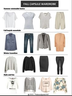 Fall capsule wardrobe: minimalist with a touch of fun #fall #capsule #project333 #minimalist #boyish #plussize
