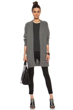 New $425 Rag & Bone Charlize Cashmere Cardigan in Grey Melange sz XS S | eBay