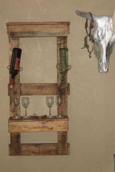 The post Wine Pallet Shelf appeared first on Pallet Ideas. Wine Pallet Shelf Pallet wood and old bed springs make an excellent wine shelf. Pallet Wine, Pallet Crates, Old Pallets, Pallet Shelves, Recycled Pallets, Recycled Wood, Wooden Pallets, Pallet Room, Diy Pallet Furniture