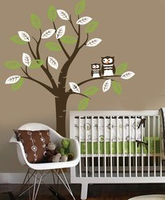Vinyl Wall Decal OWL friends Tree nursery decor by missymoovinyl, $75.00