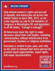 Women, unite, wherever you are!