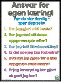 Malimo Mode NO: Ansvar for egen læring Assessment For Learning, Highly Effective People, Classroom Walls, Cooperative Learning, Reading Strategies, English Lessons, Social Skills, Classroom Management, Language