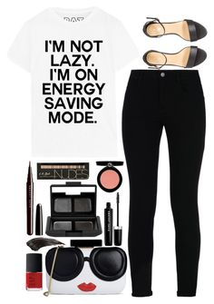 """""""I`m not lazy"""" by ecem1 ❤ liked on Polyvore featuring STELLA McCARTNEY, Alice + Olivia, NARS Cosmetics, Marc Jacobs and Armani Beauty"""