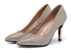 Womens Elegant Rhinestone High Heels