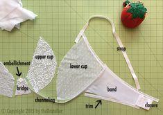 The Making of The Little White Bra Underwear Pattern, Lingerie Patterns, Sewing Lingerie, Bra Pattern, Dress Sewing Patterns, Lingerie Set, Sewing Bras, Honeymoon Lingerie, Bridal Lingerie