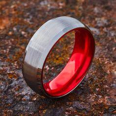 #redweddingrings #redrings #wedding #weddingband #redweddingband #mensweddingband #weddingrings #bridalrings #gift #ring #luxury #perfect #ido #shesaidyes #isaidyes #proposal #engagementrings #fashion #tungstenbands #tungstenrings #elmanjewelry