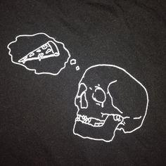 Brandy Melville pizza skull top Never worn! Brandy Melville Tops Tees - Short Sleeve