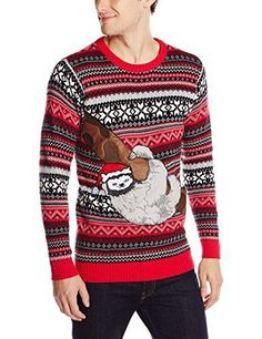 Blizzard Bay Men's Sloth Tree Ugly Christmas Sweater, Red/Grey/Black, Small Blizzard Bay http://www.amazon.com/dp/B013AW8VOG/ref=cm_sw_r_pi_dp_1tsuwb0968JK8