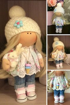 Handmade doll Nursery doll Soft doll Art doll Fabric doll