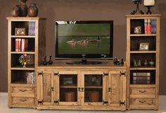 rustic entertainment center. I want this!