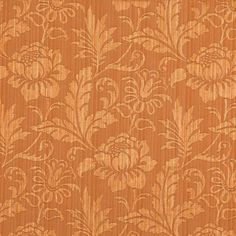 Coral or Orange or Persimmon color pattern Damask or Jacquard type Upholstery Fabric called by KOVI Fabrics Color Patterns, Print Patterns, Persimmon Color, Pillow Fabric, Designer Pillow, Countries Of The World, Slipcovers, 1 Piece, Damask