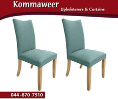 Whether you have a set of dining chairs that have seen better days or a loveseat that needs updating, re-upholstery can give your beloved furniture a new life. Kindly contact the #Kommaweer team on 044 870 7510 for more information and assistance. #upholstery