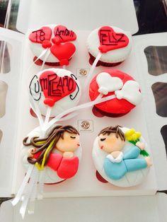 Te amo cupcakes