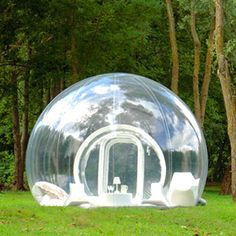 Bubble Tree, France. Via T+L (www.travelandleisure.com). Hmmm. I usually like a little privacy when vacationing. But this def has a high cool factor.