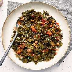 Instant Pot Collard Greens Recipe, Christmas Side Dishes, 5 Ingredient Recipes, Pressure Cooker Recipes, Slow Cooker, Side Dish Recipes, Oven Recipes, Ww Recipes, Recipies