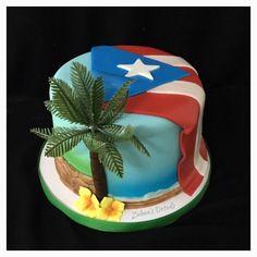 Puerto Rico Cake Custom Cakes, Puerto Rico, Birthday Cake, Desserts, Food, Pound Cake, Personalized Cakes, Tailgate Desserts, Birthday Cakes