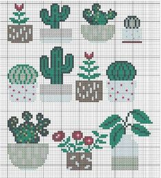 Embroidery Cactus Punto Cruz Ideas For 2019 Cactus Cross Stitch, Cross Stitch Love, Cross Stitch Cards, Cross Stitch Borders, Cross Stitch Samplers, Cross Stitch Flowers, Cross Stitching, Cross Stitch Embroidery, Embroidery Patterns