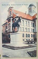 Beuthen i. O.S. Denkmal Friedrich des Grossen,Gebäude, Turm,Wege, um 1905