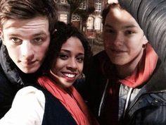 Saphirblau - Gideon (Jannis Niewöhner), Leslie (Jennifer Lotsi) & Raphael (Lion Wasczyk) | Behind the scenes