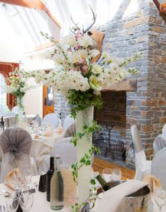 Centrepieces at Miskin Manor