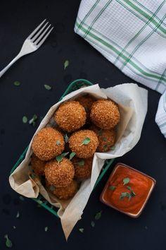 Potato Cheese Balls & Marjoram Tomato Dip