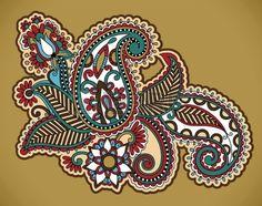 tatuaggio all'hennè floreali, decorazioni ornamentali Archivio Fotografico