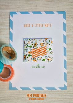 Send a Little Note Free Printable -