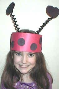Free printable templates and instructions for ladybug insect crafts for preschool, kindergarten and elementary school children. Ladybug Crafts, Ladybug Party, Hat Crafts, Flower Crafts, Paper Crafts, Grouchy Ladybug, Ladybug Costume, Insect Crafts, Spring Crafts For Kids