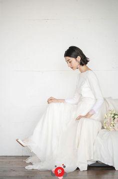 Wedding Dress With Veil, Dream Wedding Dresses, Wedding Gowns, Short Bridal Hair, Minimal Wedding, Hair Setting, Wedding Hair And Makeup, Wedding Coordinator, Wedding Images
