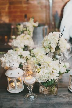 All White Wedding -- Guests were even asked to wear white! See the wedding on #smp here: http://www.StyleMePretty.com/canada-weddings/2014/05/14/intimate-ruby-watchco-affair/ Photography: MangoStudios.com