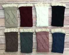 Boot Cuffs: Multiple Colors