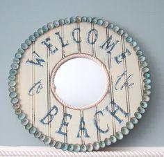 Beach Decor Nautical Mirror  Welcome To the by beachgrasscottage