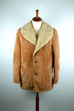Cresco Heavy Duty Suede and Shearling Jacket Size 42 by DesertMoss