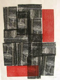 'Feeling Alive' by American artist Ana Karina Luna. Linocut, 18 x 24 in. via missclinepress on Etsy