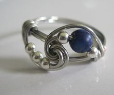 Lapis Lazuli Gemstone Ring Inspired by Vampire Diaries Completely Sterling Silver ALL SIZES. $16.00, via Etsy.