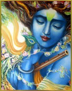 Krishna Das - Maha Mantra (Hare Krishna) by Diego Caiaffo on SoundCloud Jai Shree Krishna, Radha Krishna Images, Krishna Photos, Krishna Love, Krishna Radha, Lord Krishna, Radha Rani, Indian Gods, Indian Art