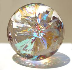 "7"" sphere of laminated crystal glass and optical coated glass, ground and polished"