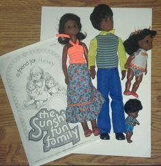 1977 Mattel AA SuNsHiNe HaPpY FuN family European version #Dolls